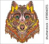tribal ethnic wolf totem ...   Shutterstock .eps vector #195806051