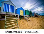 Colourful Beach Huts With...