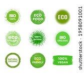 set of eco  bio  vegan product  ... | Shutterstock .eps vector #1958091001