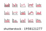 charts and graphs line icons....   Shutterstock .eps vector #1958121277