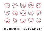 yummy smile line icons....   Shutterstock .eps vector #1958124157