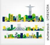 landscape of brazil | Shutterstock .eps vector #195819254