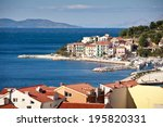 colorful coastal town ... | Shutterstock . vector #195820331