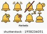 big set of flat bell vector...