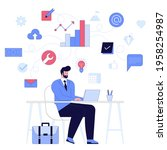 business people concept.... | Shutterstock .eps vector #1958254987