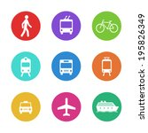 city transportation pictograms  ... | Shutterstock .eps vector #195826349
