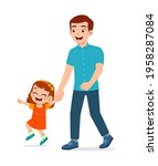 young good looking father... | Shutterstock .eps vector #1958287084