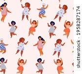seamless pattern of overweight...   Shutterstock .eps vector #1958287174