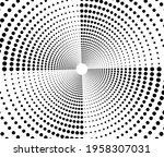 spiral wave rhythm dynamic.... | Shutterstock .eps vector #1958307031