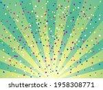 sunburst and confetti...   Shutterstock .eps vector #1958308771