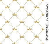 seamless ornament with golden...   Shutterstock .eps vector #1958310607