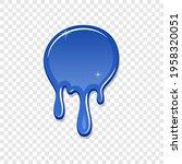 drip paint spot 3d isolated...   Shutterstock .eps vector #1958320051