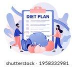 nutrition diet. diet plan with... | Shutterstock .eps vector #1958332981