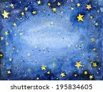 Watercolor Starry Sky