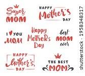mother's day lettering set. ...   Shutterstock .eps vector #1958348317