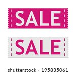 Set Of Vector Pink Sale Signs...
