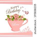 happy birthday   Shutterstock .eps vector #195838235