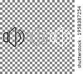 speaker volume thin line icon...