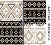 patchwork seamless geometric... | Shutterstock . vector #195838964