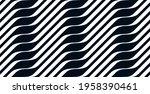 geometric wavy lines seamless...   Shutterstock .eps vector #1958390461