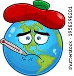 sick earth globe cartoon...   Shutterstock .eps vector #1958398201
