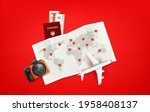 travel illustration with red...   Shutterstock .eps vector #1958408137