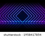 blue and purple neon laser...   Shutterstock .eps vector #1958417854