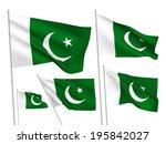 pakistan vector flags set. 5... | Shutterstock .eps vector #195842027