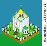 orthodox church in isometric...   Shutterstock .eps vector #1958446411