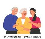 portrait of happy family... | Shutterstock .eps vector #1958448001