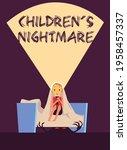 scared little boy panic fear... | Shutterstock .eps vector #1958457337