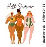 hello summer time beach... | Shutterstock .eps vector #1958460451
