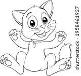 a cat cute cartoon kitten...   Shutterstock .eps vector #1958461927
