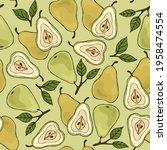 light summer pattern with sweet ... | Shutterstock .eps vector #1958474554