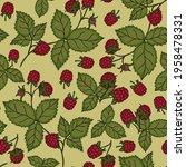 sweet cute pattern with summer... | Shutterstock .eps vector #1958478331