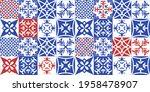 azulejos portuguese style tiles.... | Shutterstock .eps vector #1958478907