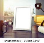 frame on table  | Shutterstock . vector #195853349