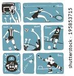 team sport activity images.... | Shutterstock .eps vector #195853715