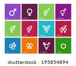 gender identities icons on...