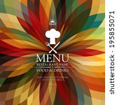 restaurant menu. | Shutterstock .eps vector #195855071