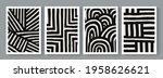 trendy set of geometrical... | Shutterstock .eps vector #1958626621