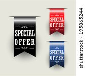 special offer ribbons | Shutterstock .eps vector #195865244