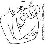 mother and father holding... | Shutterstock .eps vector #1958673967