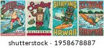 surfing vintage colorful... | Shutterstock .eps vector #1958678887