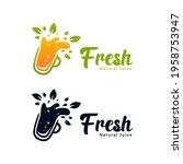 slurpy natural fruit healthy... | Shutterstock .eps vector #1958753947