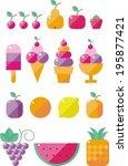 modern flat icons vector...   Shutterstock .eps vector #195877421