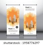 orange abstract shapes modern...   Shutterstock .eps vector #1958776297