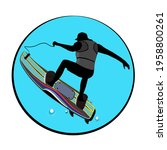 jet surf  extreme water sports  ...   Shutterstock .eps vector #1958800261