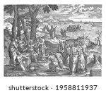 christ multiplies the loaves... | Shutterstock . vector #1958811937
