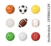 different sports ball set...   Shutterstock .eps vector #1958861134